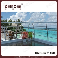 decorated beach to prevent rust stainless steel cable handrail