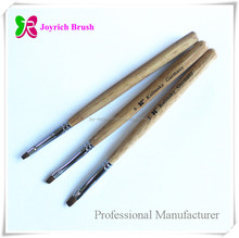 Suppliers of nail products natural wooden kolinsky gel nail polish brush