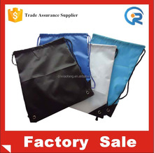 promotional drawstring bag/recycled polyester shoe bags/wholesale polyester drawstring bag