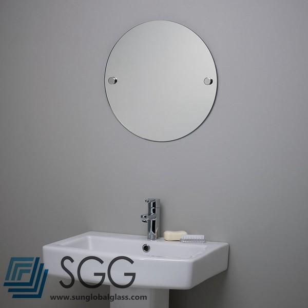 calidad superior redondo de grado sin marco biselado espejos de bao