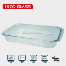 2qt rectangle high borosilicate glass bakeware
