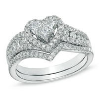 China SJ Fashionable New Model SJIR0182 Women White Gold Plated Copper Shiny Cubic Zircon Heart Engagement Ring 6#7#8#9#