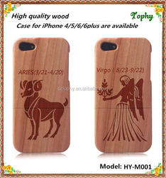 Custom wooden Cell Phone Case For IPhone 4 5 6 + Seperate bodies