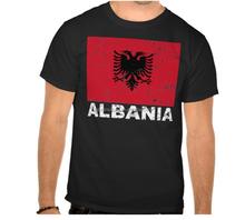 2015 custom Albania flag t-shirt 95% Cotton 5% Elastane for Gym