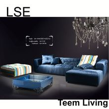 luxury living room partition design leather single classic sofa furniture accessory LS-104