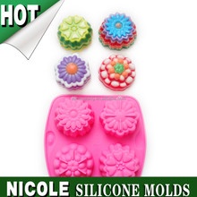 B0210 Nicole food grade moon cake making handmade pudding jelly oven baking tools silicone cake molds factory