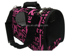 China wholesale pink white dot portable pet carrier with low MOQ