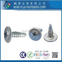 Taiwan Stainless Steel Philip K-LATH Head Wafer Head Button Head Tek screw Self Drilling Screws