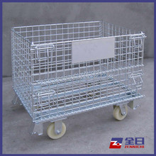 Rolling Wire Mesh Container