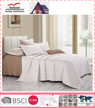 plain white luxurious king bedroom furniture sets embroidered bedspread