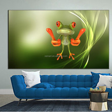 best selling handmade items cartoon funny animals frog oil painting reproduction from china modern kids room bedroom set design