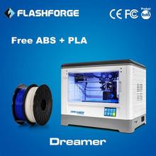 Flashforge reputation ABS jewelry big dual extruder 3d printer