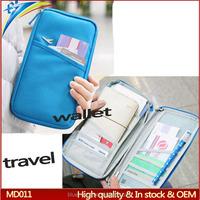 Fashion cheap travel passport bag High quality big duty journey clutch documents wallet purses
