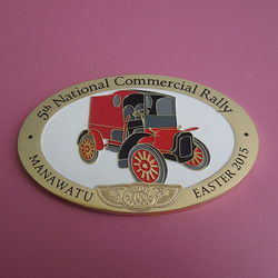 metal car logo badge company, custom 5th national commercial rally car emblems, 2015 newest car sign badges