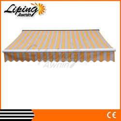 Alibaba express double retractable awning, portable wind resistant canopy