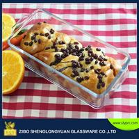 Pyrex glass baking dish 0.8L/Oven safe rectangular glass loaf dish/Heat-resisitant glass roaster 23x10x6cm
