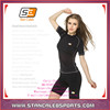 Stan Caleb custom supreme polyester spandex performance ladies girl women's gym bodybuilding fitness t shirts dry fit