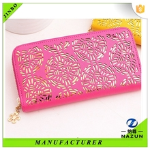hot selling stylish leather Pierced wallet for party