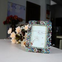 wedding metal photo frame ,2.5x3.5 photo frame , ancient alloy photo frames HQ070119-2535