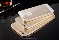 2015 new arrival luxury Acrylic metal frame mobile phone back case for iphone 5 5s
