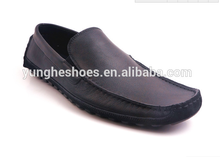 new style black casual men soft genuine leather flat shoes 6289-1
