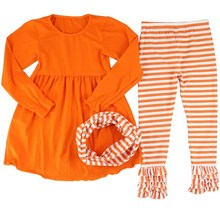 2015 frock design for baby girl ruffle pants outfits halloween boutique outfits
