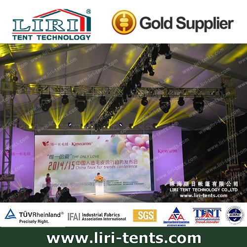 La plus grande usine en chine moutanineering liri 20m tente d'exposition pour la vente