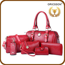High-end European and American fashion handbags 2015 new 6pcs bag set