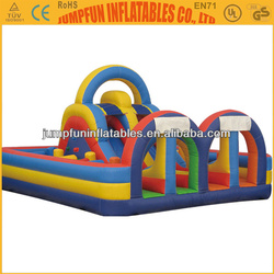 Kids inflatable bouncy playground/Giant air bouncer with slides,Obstacle course with slides