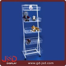 Factory price 4 shelves metal wire display rack for dolls, metal dolls display stand