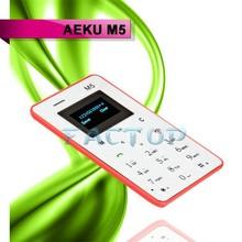 the smallest watch mobile phone M5 1 inch Ultra Thin cheap mobile phone ,Low Radiation M5 Card Cell Phone