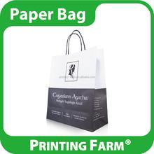 Taiwan Offset Printing White Kraft Paper Bag