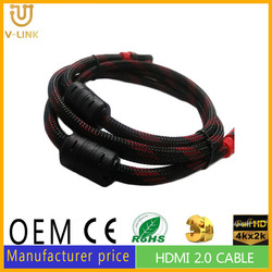 Black and Red dual colors vga to hdmi converter cable with AM TO AM male plug