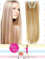 120g Secret Extensions Heat Resistant Fiber False Synthetic Clip in Hair Extension Hairpiece Blonde apply Hair Pieces Styling