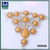 M9608 Beautiful rhinestone triangle woman shoe jewelry sandal accessories