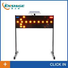 road arrow solar traffic sign