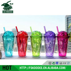 Plastic Snackeez Cup With Straw/ Beautiful BPA FREE Tumblers