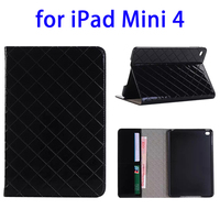 mobile phone accessories plastic bags leather case flip cover for iPad mini 4