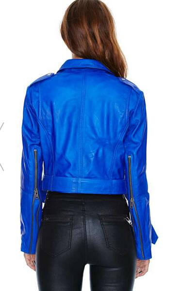 Chaqueta Chaqueta Mujer Azul Cuero Cuero Xqzq80