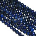 piedras preciosas de la moda cuentas redondas y lisas lapis lazuli cuentas para la fabricación de joyas