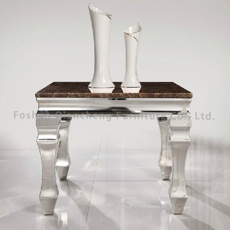 2017 moderna sala de estar muebles de metal espejo mesa auxiliar ...