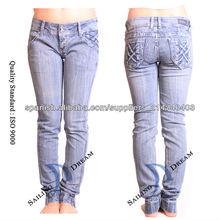 mujeres jeans ajustados(pj13116-w)