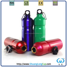 BPA free 25oz/750ml waist metal aluminium bottle with key ring