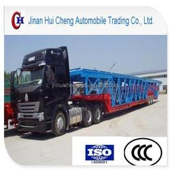 2 Axles car/vehicle carrier semi trailer car trailer