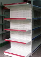 (perforated backboard ) metal used supermarket shelf
