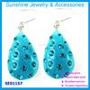 2015 new design diamond dangle earring crystal jewelry earring