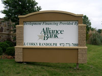 Double-leged Rectangle Bank Information Monument Sign