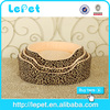 Professional manufacture luxury fabric round pet bed