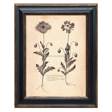 antique black wall frame with picture