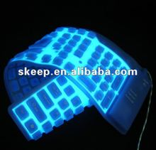 EL Waterproof Flexible Lighting led Keyboard for promotion gifts